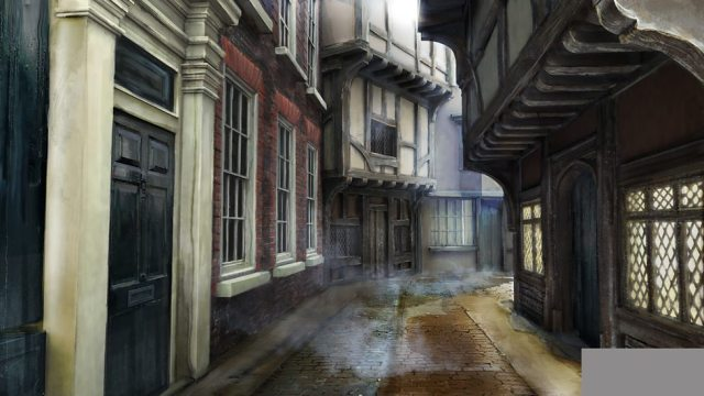 Concept art – the trap street.