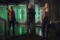 """The Flash -- """"Legends of Today"""" -- Image FLA208B_0057b.jpg -- Pictured (L-R): Willa Holland as Thea Queen, David Ramsey as John Diggle and Ciara Renee as Kendra Saunders -- Photo: Cate Cameron/The CW -- © 2015 The CW Network, LLC. All rights reserved."""