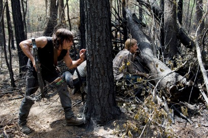 Norman Reedus as Daryl Dixon and Austin Amelio as D - The Walking Dead _ Season 6, Episode 6 - Photo Credit: Gene Page/AMC