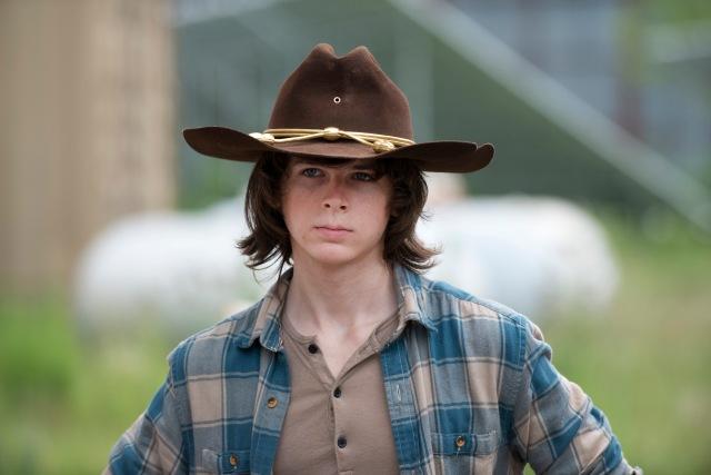 Chandler Riggs as Carl Grimes - The Walking Dead _ Season 6, Episode 7 - Photo Credit: Gene Page/AMC