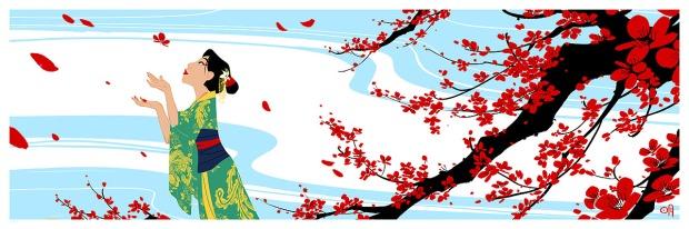 Cherry Blossoms_Mulan_by Mingjue Helen Chen
