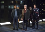 "DC's Legends of Tomorrow -- ""Pilot, Part 1"" -- Image LGN101d_0364b -- Pictured (L-R): Franz Drameh as Jefferson ""Jax"" Jackson, Ciara Renee as Kendra Saunders/Hawkgirl, Victor Garber as Professor Martin Stein, Falk Hentschel as Carter Hall/Hawkman and Brandon Routh as Ray Palmer/Atom -- Photo: Jeff Weddell/The CW -- © 2015 The CW Network, LLC. All Rights Reserved"