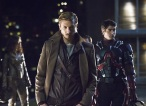 """DC's Legends of Tomorrow -- """"Pilot, Part 1"""" -- Image LGN101d_0438b -- Pictured (L-R): Arthur Darvill as Rip Hunter and Brandon Routh as Ray Palmer/Atom -- Photo: Jeff Weddell/The CW -- © 2015 The CW Network, LLC. All Rights Reserved."""