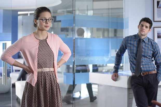 """""""Blood Bonds"""" -- With Astra in captivity at the DEO, her husband, Non (Chris Vance), captures Hank, leading to a tense standoff between the two sides. Also, Kara continues to refute Cat's allegations that she is Supergirl, on SUPERGIRL, Monday, Jan. 4 (8:00-9:00 PM) on the CBS Television Network. Pictured left to right: Melissa Benoist and Jeremy Jordan Photo: Erica Parise/Warner Bros. Entertainment Inc. © 2015 WBEI. All rights reserved."""