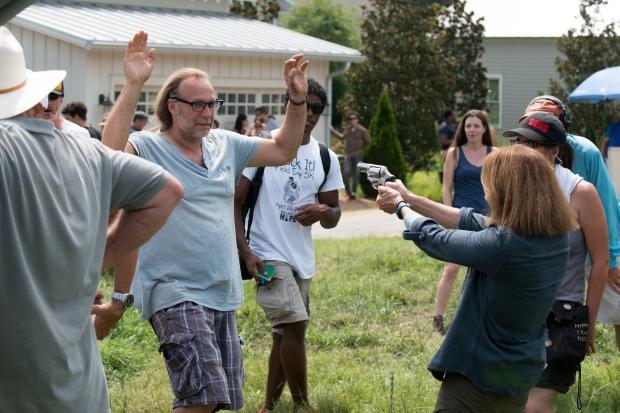 Greg Nicotero, Tovah Feldshuh as Deanna - The Walking Dead _ Season 6, Episode 8 - Photo Credit: Gene Page/AMC
