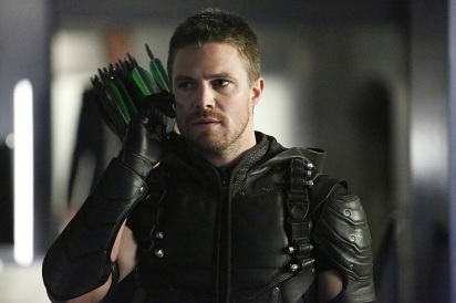 "Arrow -- ""Taken"" -- Image AR415b_0055.jpg -- Pictured: Stephen Amell as Oliver Queen / The Green Arrow -- Photo: Bettina Strauss/ The CW -- © 2016 The CW Network, LLC. All Rights Reserved."