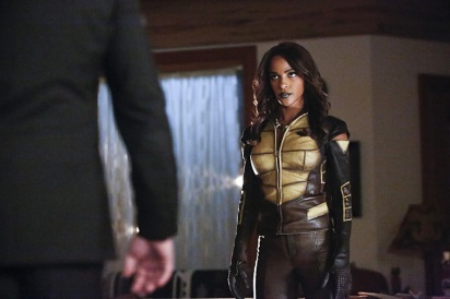 "Arrow -- ""Taken"" -- Image AR415A_0092b.jpg -- Pictured: Megalyn E.K. as Vixen -- Photo: Bettina Strauss/ The CW -- © 2016 The CW Network, LLC. All Rights Reserved."