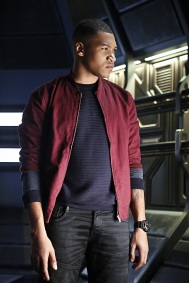 """DC's Legends of Tomorrow -- """"Marooned"""" -- Image LGN107B_0287b.jpg -- Pictured: Franz Drameh as Jefferson """"Jax"""" Jackson -- Photo: Bettina Strauss/The CW -- © 2016 The CW Network, LLC. All Rights Reserved."""