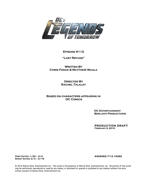 Legends of Tomorrow_S01E12_Title and Credits