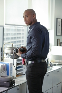 """Falling"" -- Kara turns on her friends and the citizens of National City after being exposed to Red Kryptonite makes her malicious and dangerous, on SUPERGIRL, Monday, March 14 (8:00-9:00 PM, ET/PT) on the CBS Television Network. Pictured: Mehcad Brooks Photo: Michael Yarish/CBS ©2016 CBS Broadcasting, Inc. All Rights Reserved"