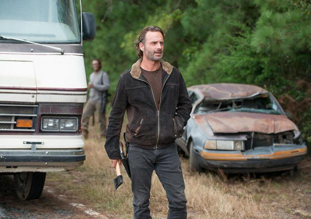Rick Grimes (Andrew Lincoln) in Episode 12 (Photo by Gene Page/AMC)