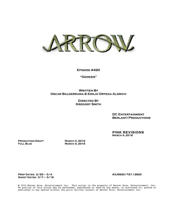 Arrow_S04E20_Title and Credits