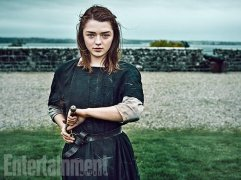 "Maisie Williams as Arya Stark ""Last season people asked: 'Is she dead?' I'm all, 'No, she's blind.' It's too easy to kill her,"" says Williams. ""If there's one thing we've learned from Game of Thrones it's that death is the easy way out."" (Image Credit: MARC HOM for EW)"