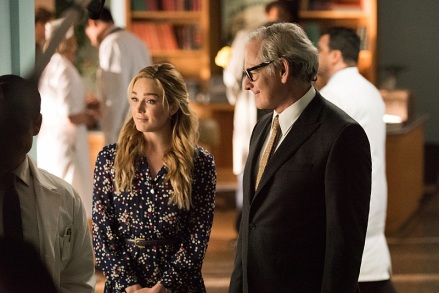 "DC's Legends of Tomorrow -- ""Night of the Hawk"" -- Image LGN108a_0046.jpg -- Pictured (L-R): Caity Lotz as White Canary and Victor Garber as Professor Martin Stein -- Photo: Dean Buscher/The CW -- © 2016 The CW Network, LLC. All Rights Reserved"