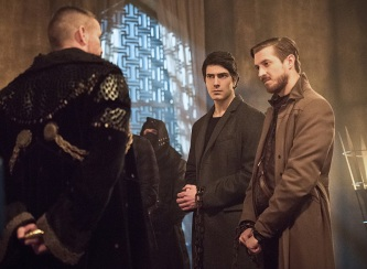 "DC's Legends of Tomorrow -- ""Left Behind"" -- Image LGN109C_0150b.jpg -- Pictured: Matt Nable as Ra's Al Ghul, Brandon Routh as Ray Palmer/Atom and Arthur Darvill as Rip Hunter -- Photo: Dean Buscher/The CW -- © 2016 The CW Network, LLC. All Rights Reserved."
