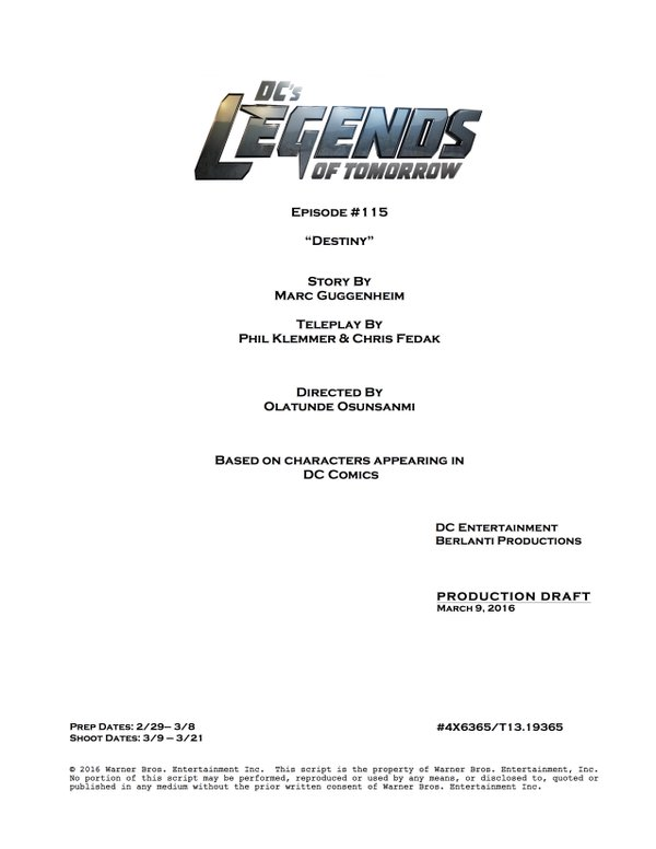 Legends of Tomorrow_S01E15_Title and Credits