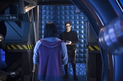 "The Flash -- ""Flash Back"" -- Image: FLA217b_0049b.jpg -- Pictured (L-R): Carlos Valdes as Cisco Ramon and Andrew Mientus as Hartley Rathaway -- Photo: Diyah Pera/The CW -- © 2016 The CW Network, LLC. All rights reserved."