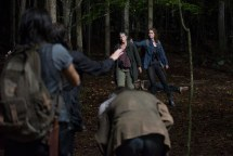 Melissa McBride as Carol Peletier and Alicia Witt as Paula - The Walking Dead _ Season 6, Episode 13 - Photo Credit: Gene Page/AMC