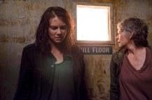 Lauren Cohan as Maggie Greene and Melissa McBride as Carol Peletier - The Walking Dead _ Season 6, Episode 13 - Photo Credit: Gene Page/AMC