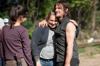 Christian Serratos as Rosita Espinosa, Merritt Wever as Dr. Denise Cloyd, and Norman Reedus as Daryl Dixon - The Walking Dead _ Season 6, Episode 14 - Photo Credit: Gene Page/AMC