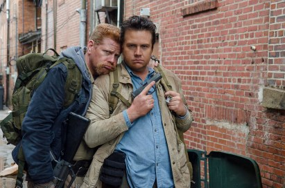 Michael Cudlitz as Abraham and Josh McDermitt as Dr. Eugene Porter - The Walking Dead _ Season 6, Episode 14 - Photo Credit: Gene Page/AMC