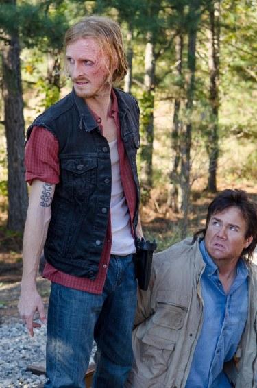 Josh McDermitt as Dr. Eugene Porter and Austin Amelio as D - The Walking Dead _ Season 6, Episode 14 - Photo Credit: Gene Page/AMC