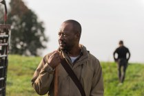 Andrew Lincoln as Rick Grimes; Lennie James as Morgan Jones - The Walking Dead _ Season 6, Episode 15 - Photo Credit: Gene Page/AMC