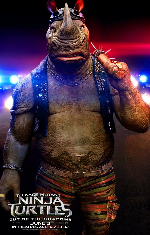 TMNT2_Rocksteady_Character Poster