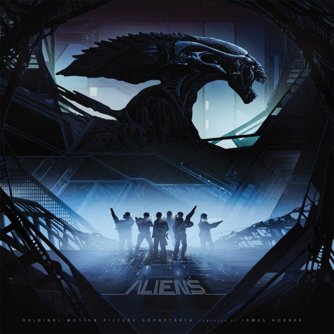 Aliens - Original Motion Picture Soundtrack 2XLP. Artwork by Kilian Eng