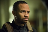 """Arrow -- """" Genesis"""" -- Image AR420a_0124b.jpg -- Pictured: Eugene Byrd as Andy Diggle -- Photo: Diyah Pera/The CW -- © 2016 The CW Network, LLC. All Rights Reserved."""
