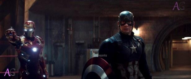 Marvel's Captain America: Civil War L to R: Iron Man/Tony Stark (Robert Downey Jr.) and Steve Rogers/Captain America (Chris Evans) Photo Credit: Film Frame © Marvel 2016