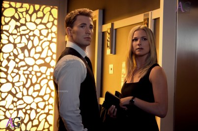 Marvel's Captain America: Civil War L to R: Captain America/Steve Rogers (Chris Evans) and Agent 13/Sharon Carter (Emily VanCamp) Photo Credit: Zade Rosenthal © Marvel 2016
