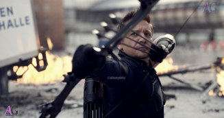 Marvel's Captain America: Civil War Hawkeye/Clint Barton (Jeremy Renner) Photo Credit: Film Frame © Marvel 2016