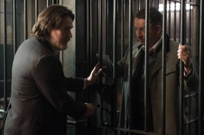 "GOTHAM: L-R: Donal Logue and Sean Pertwee in the ""Wrath of the Villains: Pinewood"" episode of GOTHAM airing Monday, April, 18 (8:00-9:01 PM ET/PT) on FOX. ©2016 Fox Broadcasting Co. Cr: Jeff Neumann/FOX"