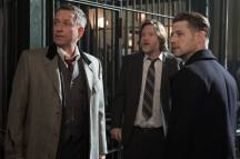 "GOTHAM: L-R: Sean Pertwee, Donal Logue and Ben McKenzie in the ""Wrath of the Villains: Pinewood"" episode of GOTHAM airing Monday, April, 18 (8:00-9:01 PM ET/PT) on FOX. ©2016 Fox Broadcasting Co. Cr: Jeff Neumann/FOX"