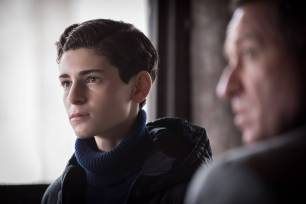 "GOTHAM: L-R: David Mazouz and Sean Pertwee in the ""Wrath of the Villains: Pinewood"" episode of GOTHAM airing Monday, April, 18 (8:00-9:01 PM ET/PT) on FOX. ©2016 Fox Broadcasting Co. Cr: Jeff Neumann/FOX"