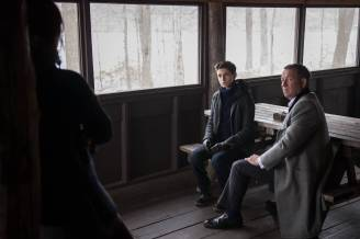 "GOTHAM: L-R: Guest star Julia Taylor Ross, David Mazouz and Sean Pertwee in the ""Wrath of the Villains: Pinewood"" episode of GOTHAM airing Monday, April, 18 (8:00-9:01 PM ET/PT) on FOX. ©2016 Fox Broadcasting Co. Cr: Jeff Neumann/FOX"