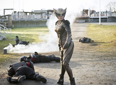 """DC's Legends of Tomorrow -- """"Progeny""""-- Image LGN110a_0194b.jpg -- Pictured: Ciara Renee as Kendra Saunders/Hawkgirl -- Photo: Diyah Pera/The CW -- © 2016 The CW Network, LLC. All Rights Reserved."""