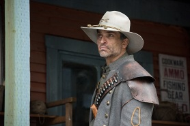 """DC's Legends of Tomorrow -- """"The Magnificent Eight""""-- LGN111b_0153.jpg -- Pictured: Johnathon Schaech as Jonah Hex -- Photo: Dean Buscher/The CW -- © 2016 The CW Network, LLC. All Rights Reserved"""