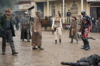"""DC's Legends of Tomorrow -- """"The Magnificent Eight""""-- LGN111a_0392.jpg -- Pictured (L-R) Dominic Purcell as Mick Rory/Heat Wave, Johnathon Schaech as Jonah Hex, Arthur Darvill as Rip Hunter, Ciara Renee as Kendra Saunders/Hawkgirl, Caity Lotz as Sara Lance/White Canary, Brandon Routh as Ray Palmer/Atom -- Photo: Dean Buscher/The CW -- © 2016 The CW Network, LLC. All Rights Reserved"""