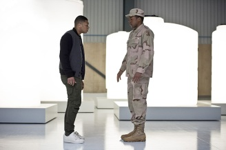 "DC's Legends of Tomorrow -- ""Last Refuge""-- Image LGN112b_0407b.jpg -- Pictured: Franz Drameh as Jefferson ""Jax"" Jackson and Eli Goree as James Jackson -- Photo: Dean Buscher/The CW -- © 2016 The CW Network, LLC. All Rights Reserved."
