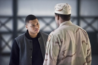 "DC's Legends of Tomorrow -- ""Last Refuge""-- Image LGN112b_0413b.jpg -- Pictured: Franz Drameh as Jefferson ""Jax"" Jackson -- Photo: Dean Buscher/The CW -- © 2016 The CW Network, LLC. All Rights Reserved."