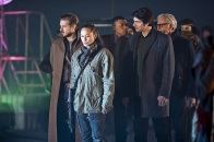 "DC's Legends of Tomorrow -- ""Leviathan""-- Image LGN113a_0014b.jpg -- Pictured (L-R): Arthur Darvill as Rip Hunter, Sharon Taylor as Rebel Leader, Franz Drameh as Jefferson ""Jax"" Jackson, Brandon Routh as Ray Palmer/Atom and Victor Garber as Professor Martin Stein -- Photo: Dean Buscher/The CW -- © 2016 The CW Network, LLC. All Rights Reserved."