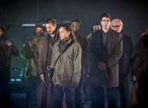 "DC's Legends of Tomorrow -- ""Leviathan""-- Image LGN113a_0038b.jpg -- Pictured (L-R): Arthur Darvill as Rip Hunter, Sharon Taylor as Rebel Leader, Franz Drameh as Jefferson ""Jax"" Jackson, Brandon Routh as Ray Palmer/Atom and Victor Garber as Professor Martin Stein -- Photo: Dean Buscher/The CW -- © 2016 The CW Network, LLC. All Rights Reserved."