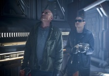 """DC's Legends of Tomorrow --""""River of Time""""-- Image LGN114b_0229b.jpg -- Pictured (L-R): Dominic Purcell as Mick Rory/Heat Wave and Wentworth Miller as Leonard Snart/Captain Cold -- Photo: Diyah Pera/The CW -- © 2016 The CW Network, LLC. All Rights Reserved."""
