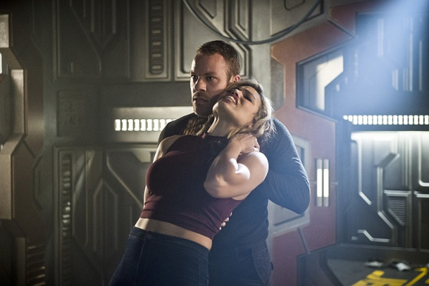 "DC's Legends of Tomorrow --""River of Time""-- Image LGN114b_0332b.jpg -- Pictured (L-R): Falk Hentschel as Hawkman/Carter Hall and Ciara Renee as Kendra Saunders/Hawkgirl -- Photo: Diyah Pera/The CW -- © 2016 The CW Network, LLC. All Rights Reserved."