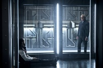"DC's Legends of Tomorrow --""River of Time""-- Image LGN114a_0296b.jpg -- Pictured (L-R): Casper Crump as Vandal Savage and Victor Garber as Professor Martin Stein -- Photo: Diyah Pera/The CW -- © 2016 The CW Network, LLC. All Rights Reserved."
