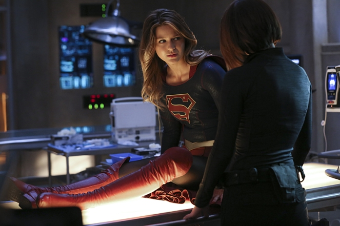 """Better Angels"" -- Supergirl (Melissa Benoist, left) is forced to do battle with an unexpected foe and must risk everything -- including her life -- to prevent Non and Indigo from destroying every person on the planet, on the first season finale of SUPERGIRL, Monday, April 18 (8:00-9:00 PM, ET/PT) on the CBS Television Network. Also pictured: Chyler Leigh (right) Photo: Cliff Lipson/CBS ©2016 CBS Broadcasting, Inc. All Rights Reserved"