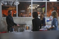 """""""Better Angels"""" -- Supergirl is forced to do battle with an unexpected foe and must risk everything -- including her life -- to prevent Non and Indigo from destroying every person on the planet, on the first season finale of SUPERGIRL, Monday, April 18 (8:00-9:00 PM, ET/PT) on the CBS Television Network. Pictured left to right: Peter Facinelli, Chyler Leigh, Melissa Benoist and Helen Slater Photo: Cliff Lipson/CBS ©2016 CBS Broadcasting, Inc. All Rights Reserved"""
