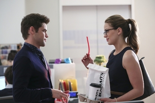 """""""Better Angels"""" -- Supergirl (Melissa Benoist, right) is forced to do battle with an unexpected foe and must risk everything -- including her life -- to prevent Non and Indigo from destroying every person on the planet, on the first season finale of SUPERGIRL, Monday, April 18 (8:00-9:00 PM, ET/PT) on the CBS Television Network. Also pictured: Jeremy Jordan (left) Photo: Cliff Lipson/CBS ©2016 CBS Broadcasting, Inc. All Rights Reserved"""